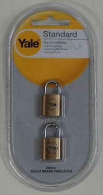 Катинари 20мм., комплект 2 бр. с еднакви ключове - YALE