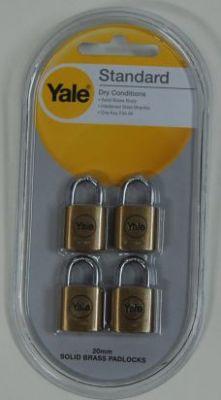 Катинари 20мм., комплект 4 бр. с еднакви ключове - YALE