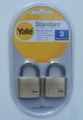 Катинари 40мм., комплект 2 бр. с еднакви ключове - YALE